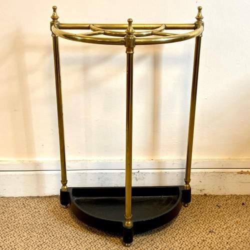 Victorian Brass Demi Lune Stick Stand image-1