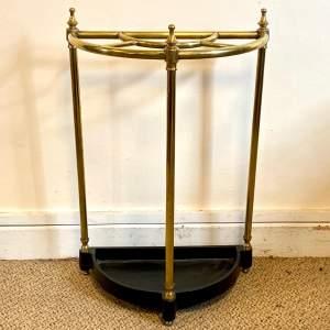 Victorian Brass Demi Lune Stick Stand