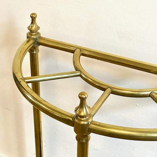 Victorian Brass Demi Lune Stick Stand image-2