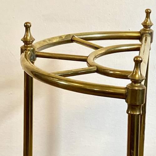 Victorian Brass Demi Lune Stick Stand image-3