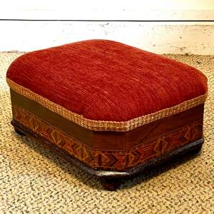 Victorian Tunbridge Ware Footstool