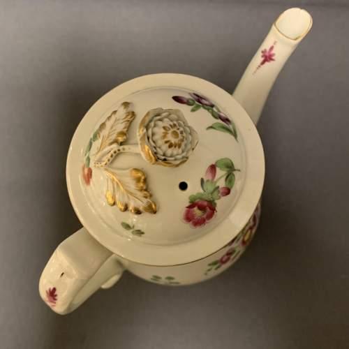 1st Period Worcester Coffee Pot Circa 1765 image-5
