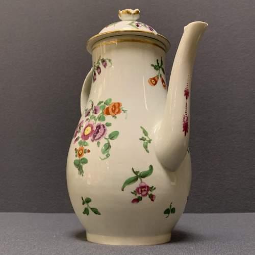 1st Period Worcester Coffee Pot Circa 1765 image-4