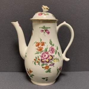 1st Period Worcester Coffee Pot Circa 1765