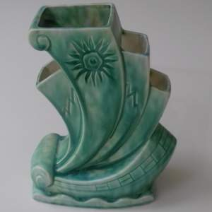 Art Deco Beswick Ware Galleon Vase