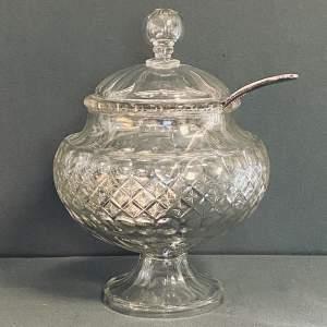 Edwardian Cut Glass Punch Bowl