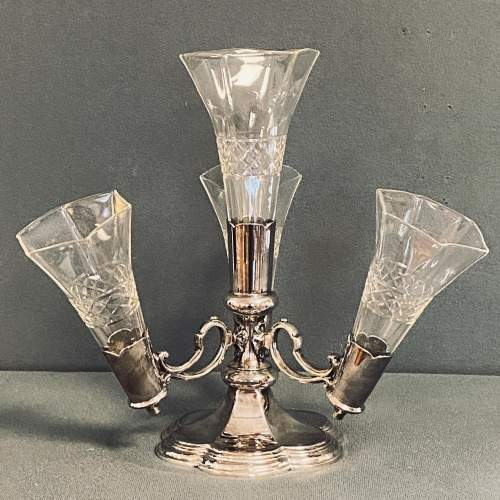 Walker and Hall Cut Glass and Silver Plated Epergne image-1