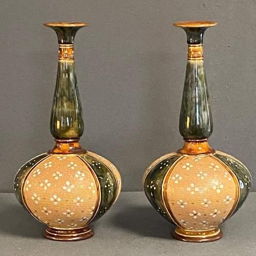 Pair of Royal Doulton Stoneware Vases image-2