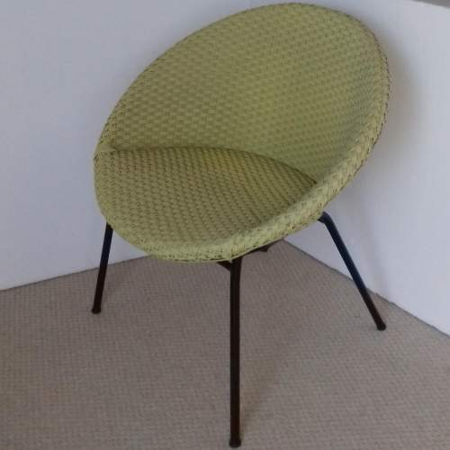 Yellow Lloyd Loom Lusty Satellite Chair image-1