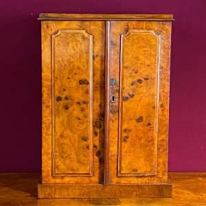 Burr Walnut Apprentice Cabinet