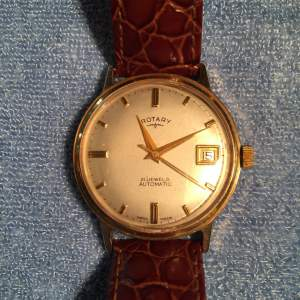 Rotary 9ct Gold Automatic 21 Jewelled Watch With Date Aperture