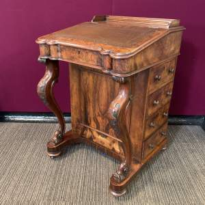 19th Century Walnut Victorian Davenport