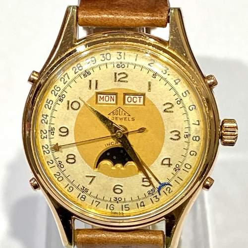 Solix Fine Quality 1960s Gents Calendar Wrist Watch image-2