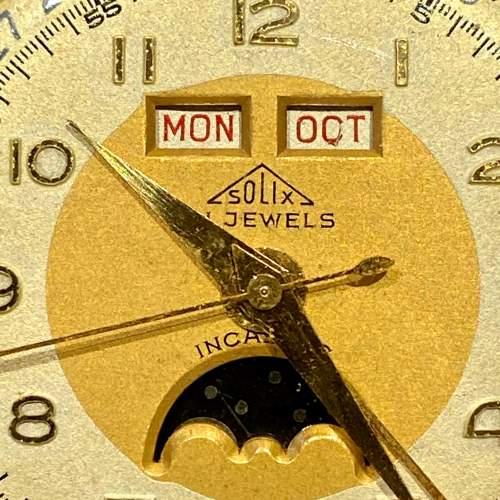 Solix Fine Quality 1960s Gents Calendar Wrist Watch image-5