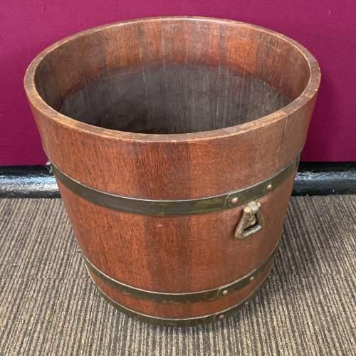 Edwardian Brass Bound Log Barrel by R.A Lister image-3
