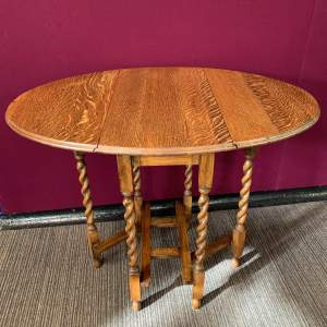 20th Century Barley Twist Drop Leaf Dining Table