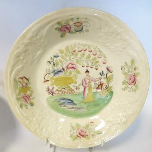 Victorian Staffordshire Creamware Part Tea Set 18 Pieces image-3