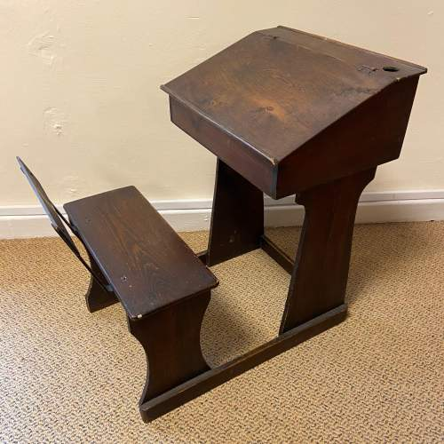 Early 20th Century Childs Pine Desk image-1
