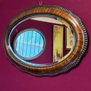 Edwardian Mahogany Framed Wall Mirror