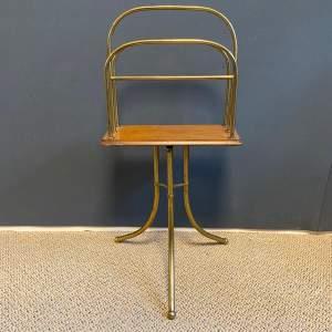 Vintage Tall Brass Magazine Stand