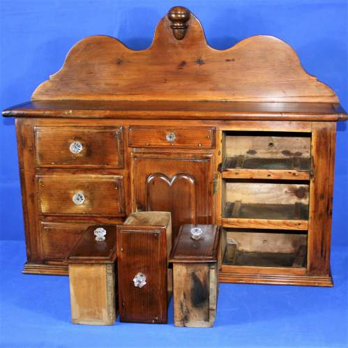 19th Century Miniature Pine Dresser image-4
