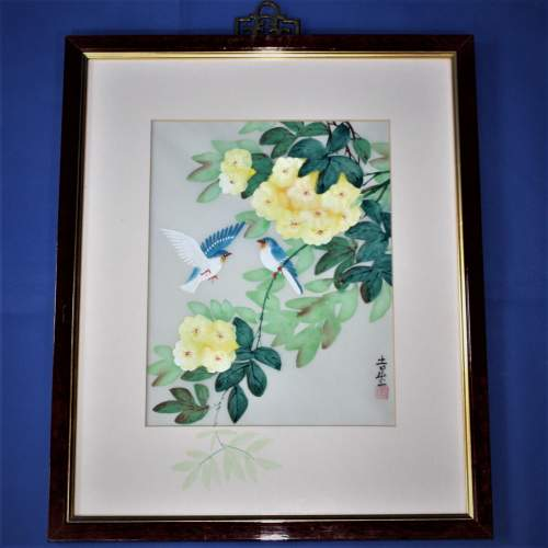 Chinese Watercolour Painting of Flowers and Birds image-1