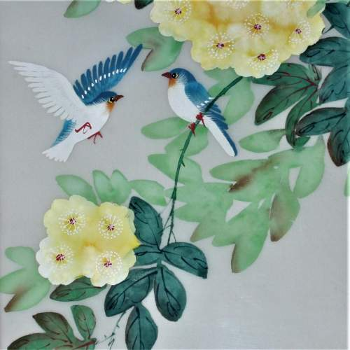 Chinese Watercolour Painting of Flowers and Birds image-2