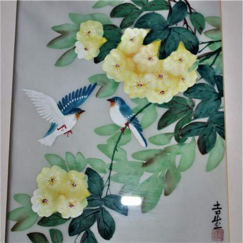 Chinese Watercolour Painting of Flowers and Birds image-3