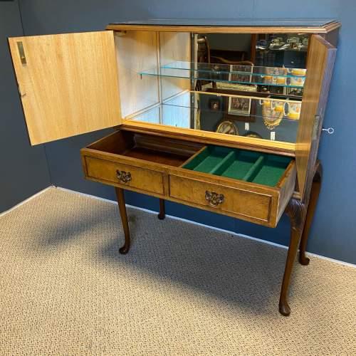 Burr Walnut Cocktail Cabinet image-2