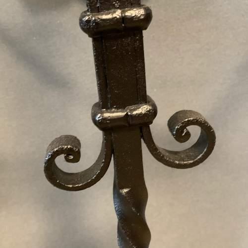 Black Iron Handmade Stick Stand image-5