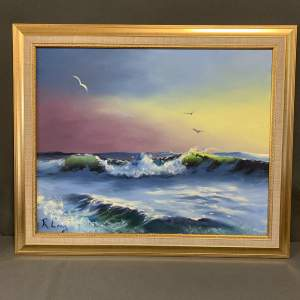 Seascape Painting by Roy Lang