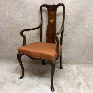 Edwardian Art Nouveau Elbow Chair