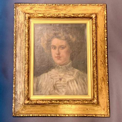 Late 19th Century Oil on Canvas Portrait of a Lady image-1