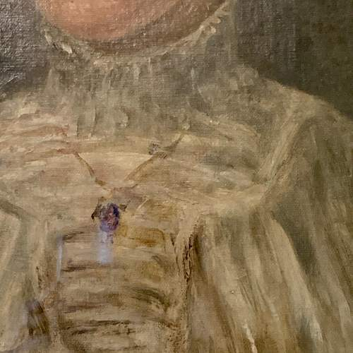 Late 19th Century Oil on Canvas Portrait of a Lady image-3