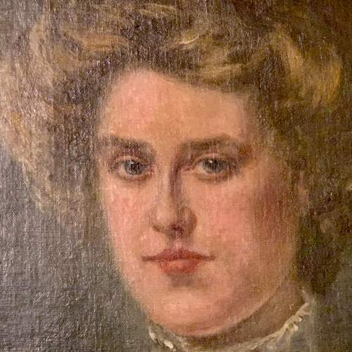 Late 19th Century Oil on Canvas Portrait of a Lady image-2