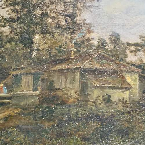 19th Century English School Oil on Canvas Letting out the Flock image-2