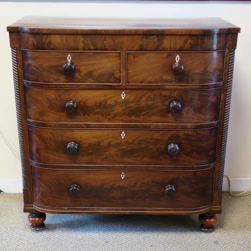 Victorian Mahogany Scottish Breakfront Chest of Drawers image-1