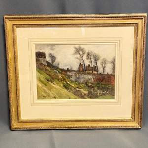 Scottish Watercolour Painting of a Horse by a Quarry