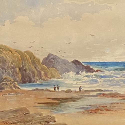 Coastal View Watercolour Painting By Frederick W Waugh image-2