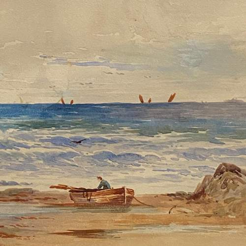 Coastal View Watercolour Painting By Frederick W Waugh image-3