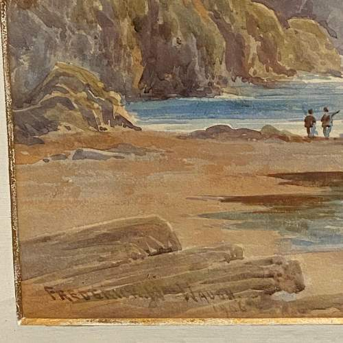 Coastal View Watercolour Painting By Frederick W Waugh image-4