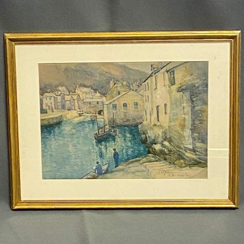 K.M. Carton Cornwall Seascape Watercolour image-1