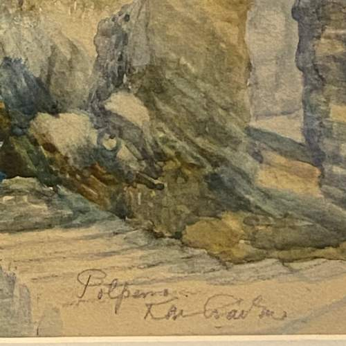 K.M. Carton Cornwall Seascape Watercolour image-3