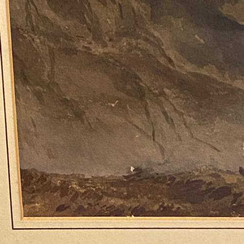 20th Century Watercolour Mountain Scene image-3