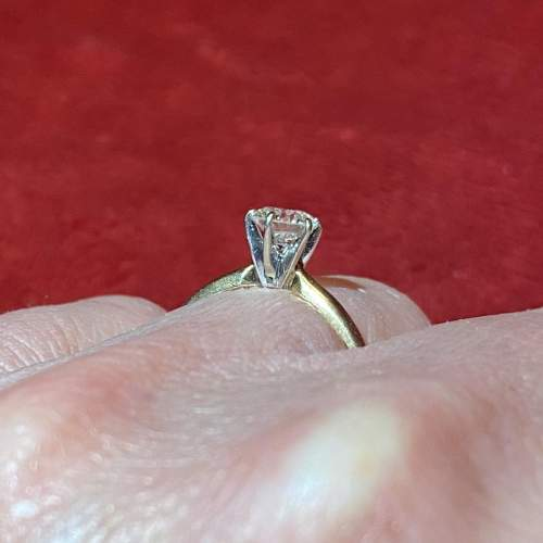 Certificated 0.58ct Diamond Solitaire Ring mounted in 14ct Gold image-2