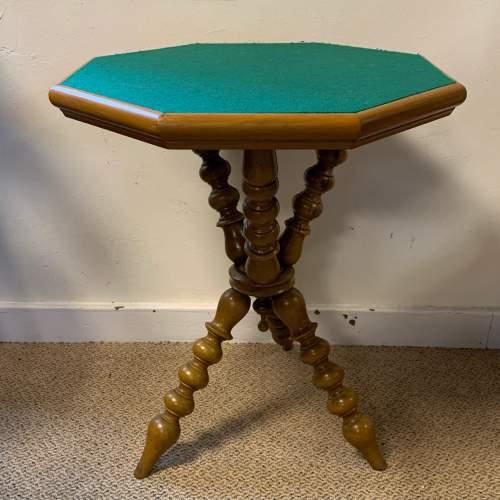 Walnut Bobbin Turned Octagonal Gypsy Table image-1