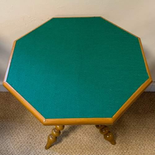 Walnut Bobbin Turned Octagonal Gypsy Table image-2