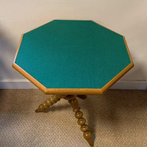 Walnut Bobbin Turned Octagonal Gypsy Table image-6