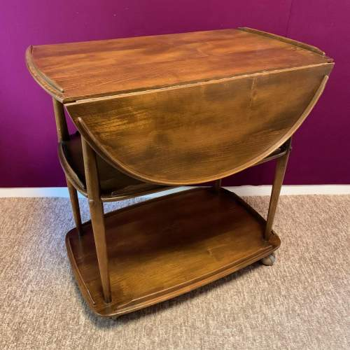 Ercol Elm and Beech Windsor Drop Leaf Trolley image-1