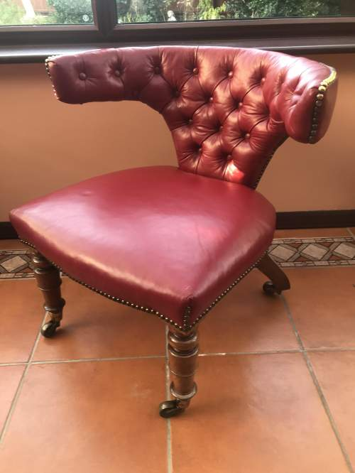 A Wonderful Victorian Cock Fighting Mahogany Armchair image-2